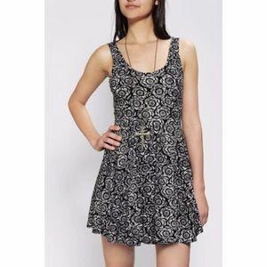 UO Ecote Floral Sleeveless Skater Dress